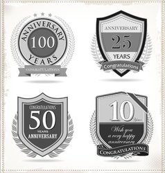 Anniversary retro labels vector