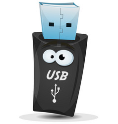 Pocket usb key character vector