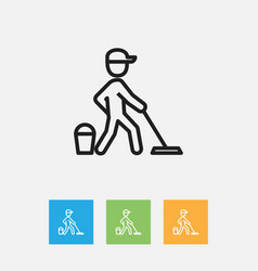 of cleanup symbol on job vector image
