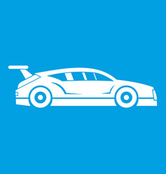 rally racing car icon white vector image