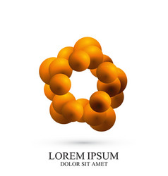 3d logotype icon dna molecule template vector