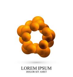 3d logotype icon dna molecule template vector image vector image