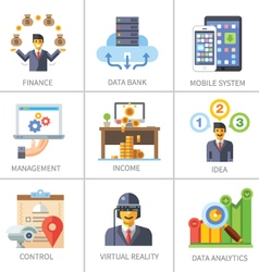 Business and finance marketing and management vector