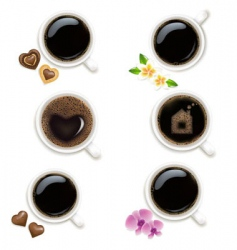 Collection of cups from coffee vector
