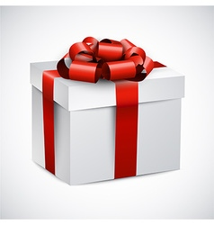 Realistic 3d gift box vector