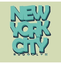New york city typography t-shirt printing design - vector