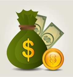 Money savings and business design vector image
