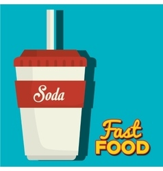 Soda drink cup vector