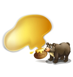 A bear and a pot of honey vector image