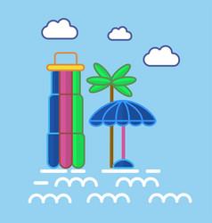 aquapark colorful equipments in graphic design vector image