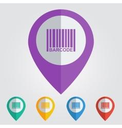 barcode flat vector image vector image