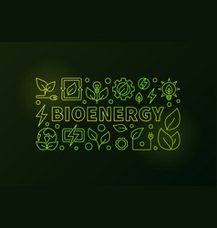 bioenergy banner vector image