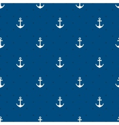 blue anchors seamless pattern vector image vector image
