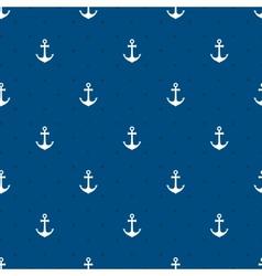 Blue anchors seamless pattern vector