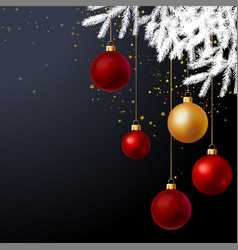 Christmas tree decorated with balls background vector