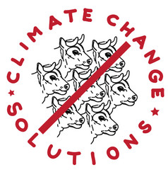 climate change cows vector image