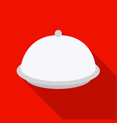 Cloche icon in flat style isolated on white vector