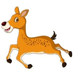 Cute deer cartoon posing vector