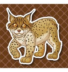 Cute Mynx vector image vector image