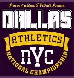 Dallas athletics vector