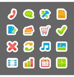 Ecommerce layout interface elements vector