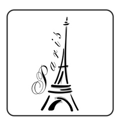 Eiffel Tower in a simple sketch style vector image