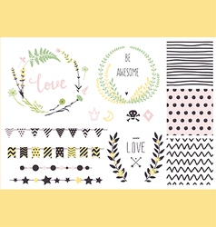Hand drawn love collection vector image vector image