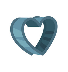 Heart shaped pastry cutter vector