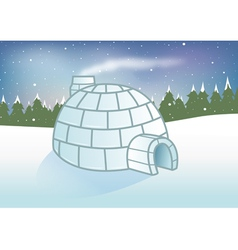igloo snowy background vector image vector image