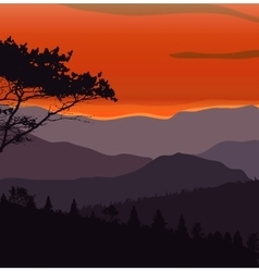 Image Mountains Landscape Trees Abstract Eco vector image