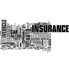 Is your auto insurance enough text background vector