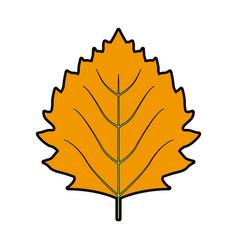 Leaf nature plant simple cartoon flat style vector
