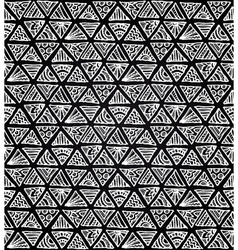 Ornate hand-drawn black and white triangles vector image vector image