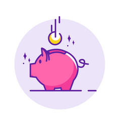 Piggy bank simple vector