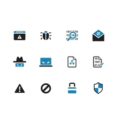 Security duotone icons on white background vector