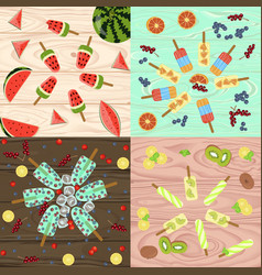 set of popsicles vector image vector image