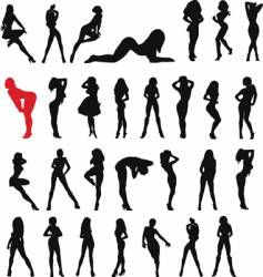 sexy woman black vector image vector image