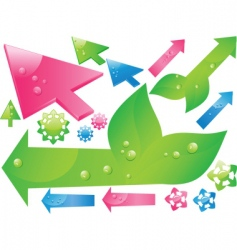 shiny 3d cursors and arrows vector image