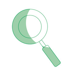Silhouette magnifying glass symbol to search and vector