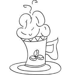 sketch - cup of coffee vector image vector image