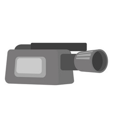 video camera with microphone vector image vector image