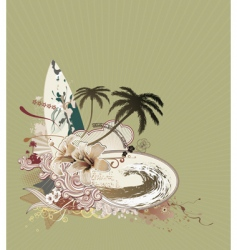 vintage surf composition vector image