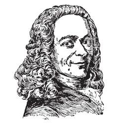 Voltaire francois marie abouet vintage vector