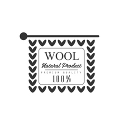 Wool black and white product logo design vector
