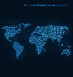 World abstract map south america vector