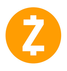 zcash icon for internet money crypto currency vector image vector image