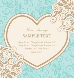 Valentine invitation card vector