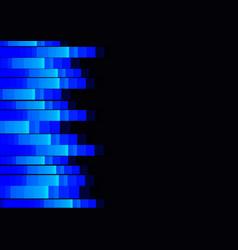 Blue fluorescent pixel speed abstract vector