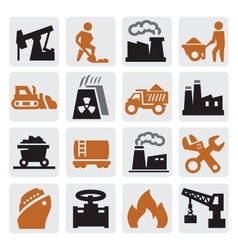 Power generation icons vector