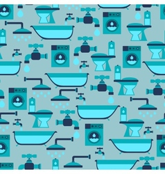 Seamless pattern with plumbing equipment vector